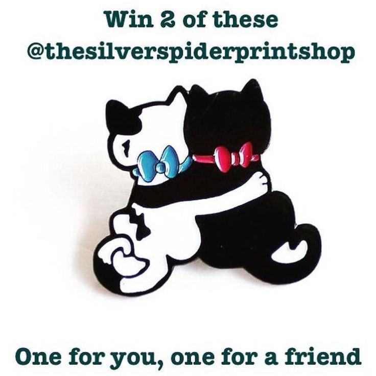 #Repost @thesilverspiderprintshop  Ok the first giveaway is over! The winner is @ohfancythat. Moving on! Giveaway two is a giveaway for you and a friend. You'll get TWO of these cat best bud pins. We could all use some good friends today.  To win this just follow these steps:  1. Follow @thesilverspiderprintshop and like this original post. 2. Tag up to two friends in the comments below. TWO COMMENTS ONLY. Anyone who comments more than two times will not be eligible to win 3. For 3 extra…