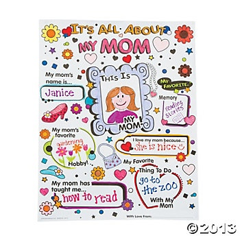 "Color Your Own ""It's All About My Mom"" Posters"