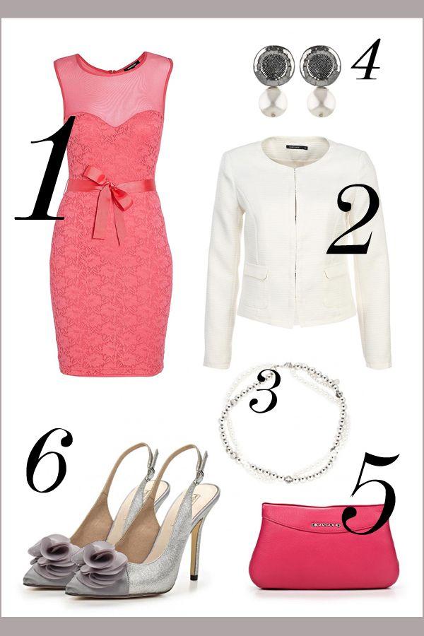 Розовый и белый в классическом образе #wedding #bridesmaid #pink