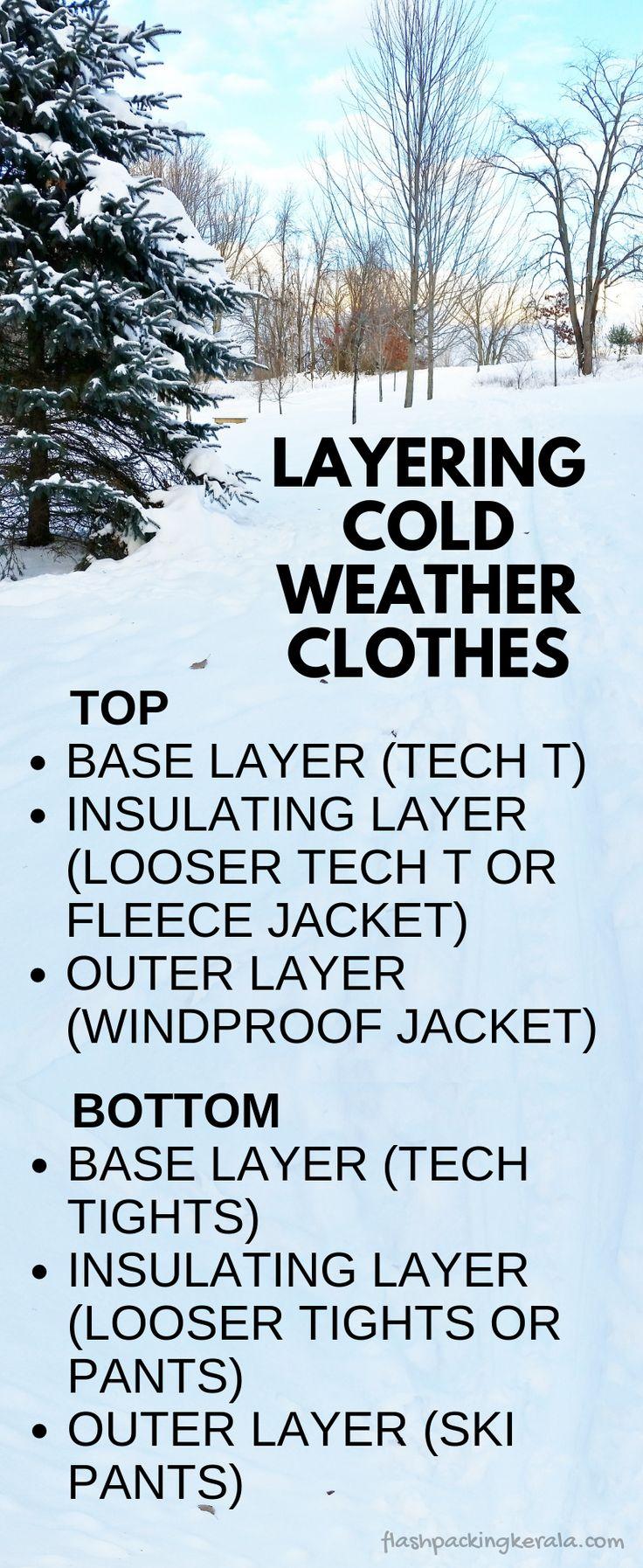 Como colocar roupas em camadas para o clima frio: dicas de férias de inverno. Equipamento de viagem ao ar livre   – Hiking