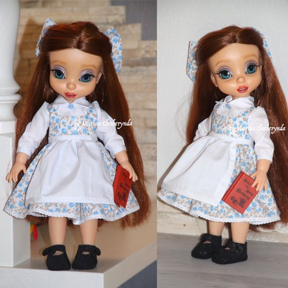 Belle dress for Disney animator dolls. Disney doll clothes.