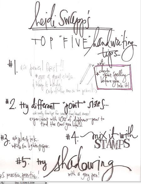 Heidi Swapp's top 5 handwriting tips