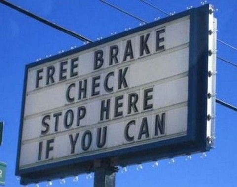 """This sign is clear with a high cognitive because some might take longer to interpret the meaning with """"stop here if you can"""" which would be interpreted that if your brakes still work then you will be able to stop but if they don't work then you wouldn't be able to stop."""