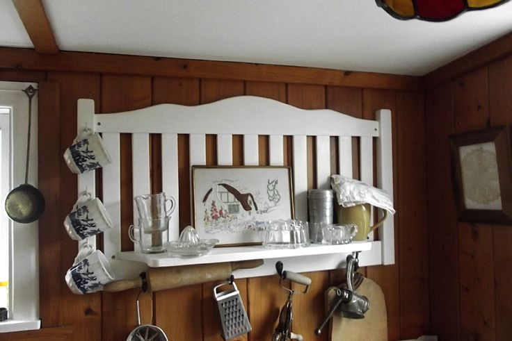 Upcycled headboard fro our scullery.
