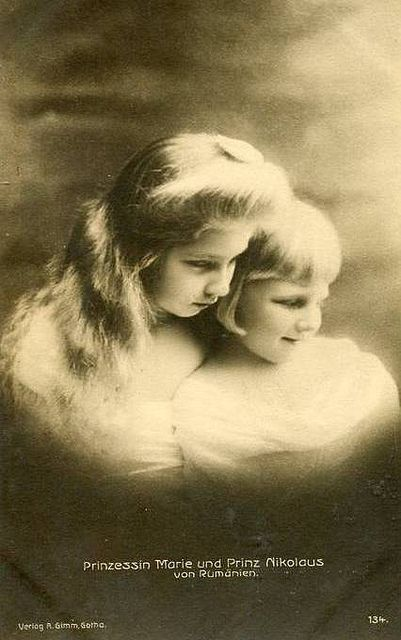 Prince Nicolae of Romania with his sister Marie, future Queen of Yugoslavia.