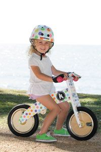 #Kiddimoto - Somerset-based brand specializing in beautifully designed, very high quality wooden ride on balance bikes, kids' cycle helmets and bike gloves.