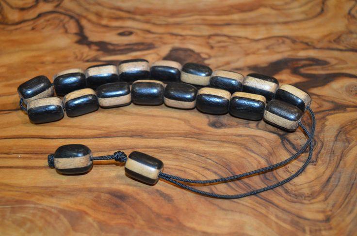 Worry Beads Komboloi Traditional Greek ЧЕТКИ Ebony Wood