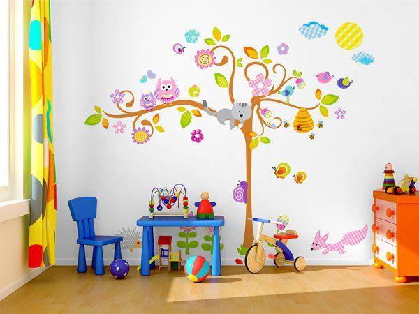 Dekorace do pokojíčku -  strom plný zvířátek > varianta 2,4 metru