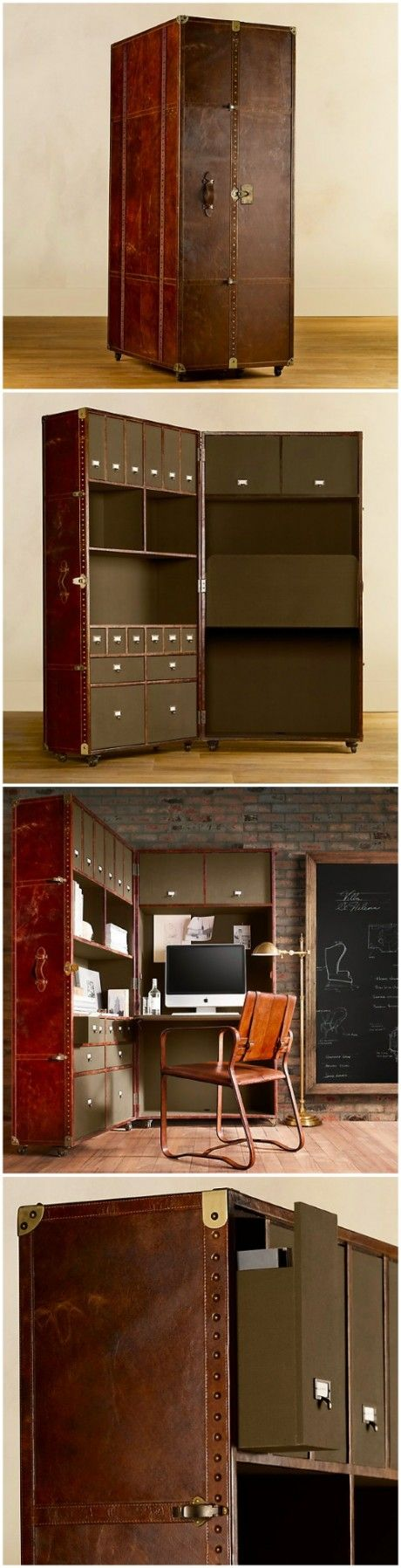 Suitcase file cabinet: Designed by Timothy Oulton, an antique furniture  dealer in London. The file cabinet looks like a big flat suitcase. - 91 Best Wonderbread Office Images On Pinterest Accent Chairs, At