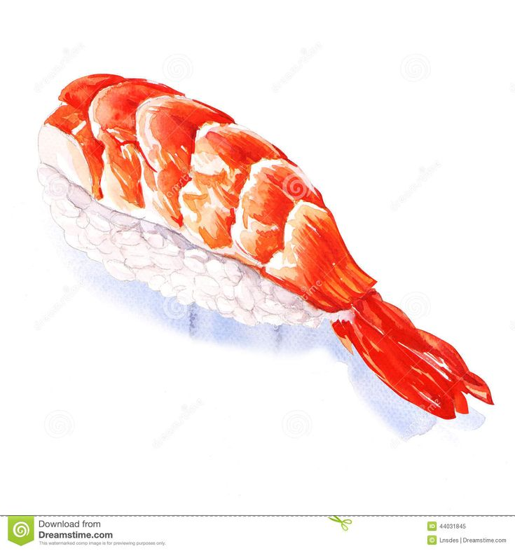 japanese watercolor sushi - Google Search