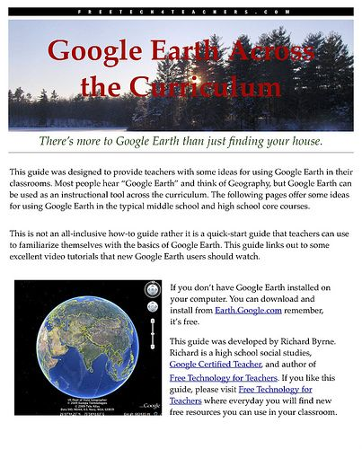 Technology Tools for the Classroom: Google Earth