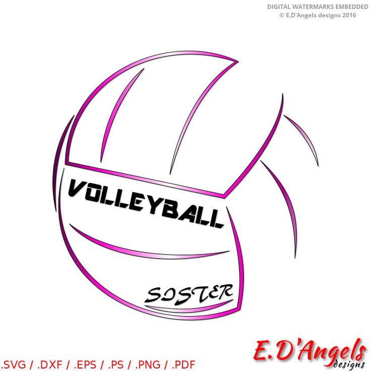 Volleyball Sister - SVG files - Cricut designs - Volleyball Sister svg - Volleyball Sister clipart - Vector - SVG files - DXF files