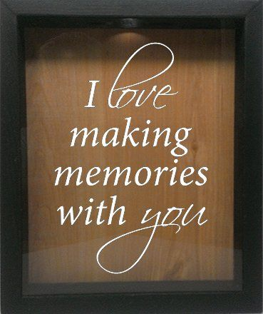 Wooden Shadow Box Wine CorkBottle Cap Holder 9x11  I Love Making Memories With You Ebony wWhite *** Click image for more details.
