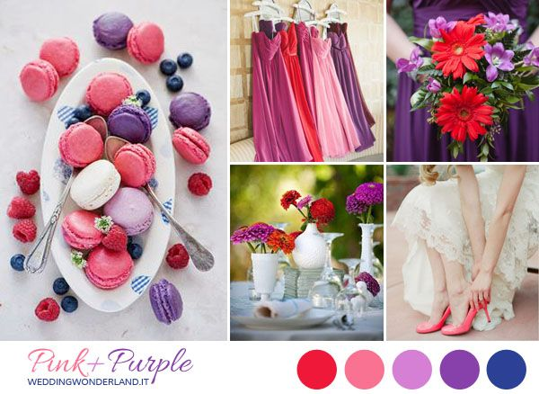 purple + pink + red wedding inspiration board