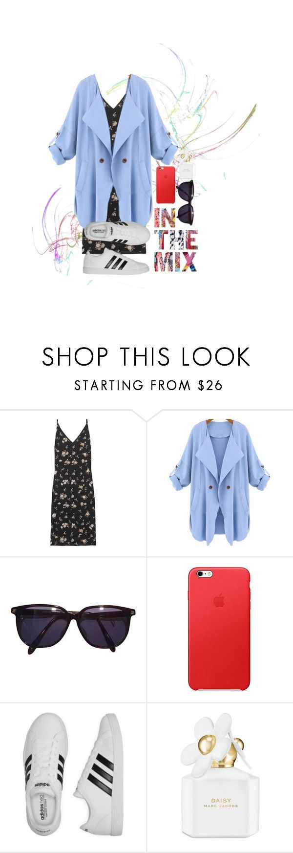 """Untitled #39"" by bebebelabee on Polyvore featuring Golden Goose, WithChic, Sonia Rykiel, adidas and Marc Jacobs"