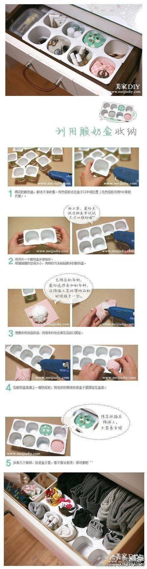 Una manera bien económica y fácil de hacer para tener todos los objetos pequeños bien organizados...