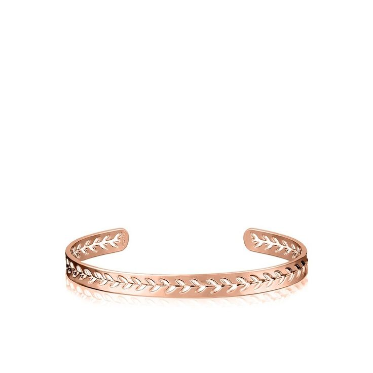 Thin rose gold bracelet with openwork leaves from the AGATHA Paris Floral  Collection