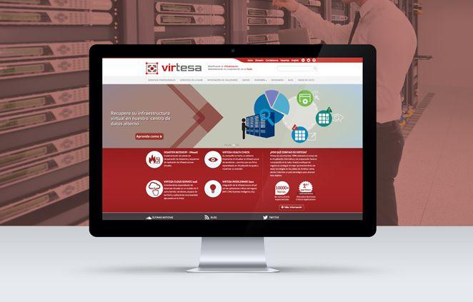 Diseño de Sitio Web Virtesa implementado sobre Wordpress