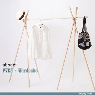 Hanger rack wooden fashionable clothes storage wardrobe hangers Paul hanger design wooden hanger coat rack stand clothing rack clothes storage shelf Scandinavian Interior natural simple whitewash new life living alone men women