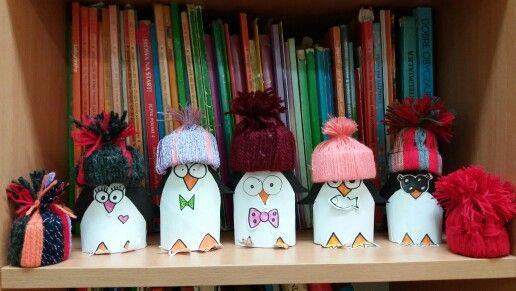 Pingwiny w czapkach