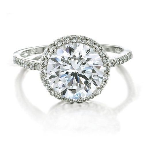Bling Jewelry Vintage Style 925 Sterling Silver Round Brilliant CZ Engagement Ring - Size 8 (Jewelry)