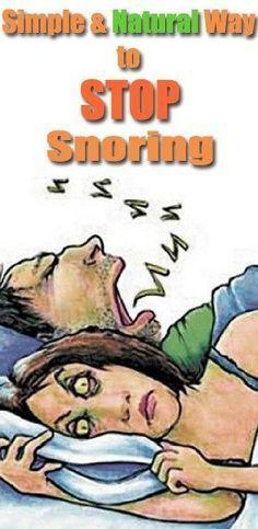 simple ways to stop snoring