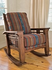 Rocking chair Mission style