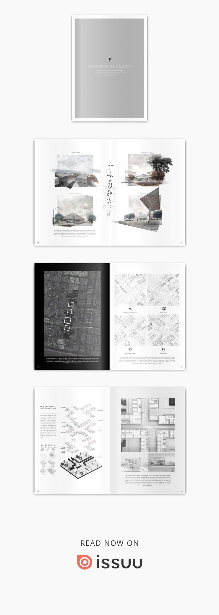 Portfolio of Yutian Wang  Harvard University Graduate School of Design, Master of Architecture in Urban Design, 2016 Instagram: Yutianwang Website: www.yutian-wang.com