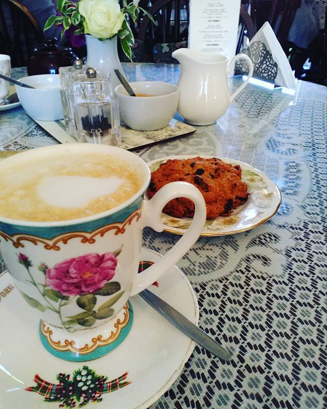 Time for some English tea and breakfast  #coffee #travelling