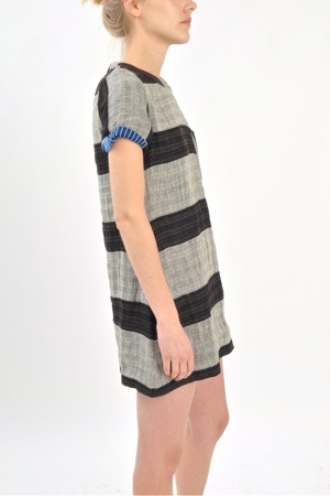 Ace and Jig black slub tee shift dress style dress