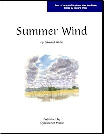 Free Piano Sheet Music in the New Age Style: Free Piano Sheet Music - Summer Wind