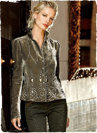 Peruvian Connection...love the mud-color with silver/pewter embellishment