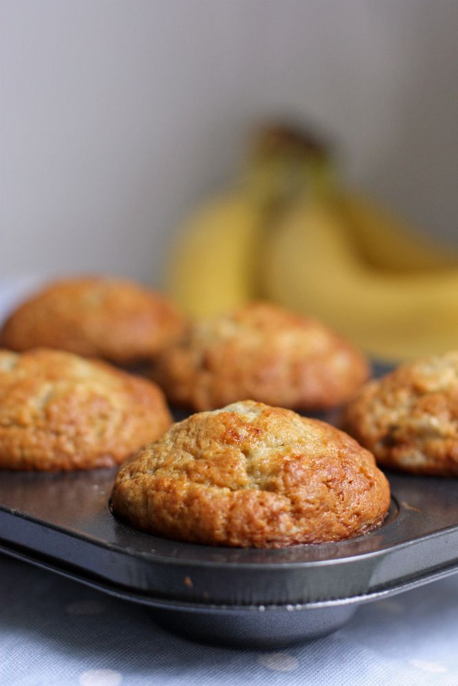 Perfect Banana Muffins - one bowl and you can have these in the oven in less than ten minutes!