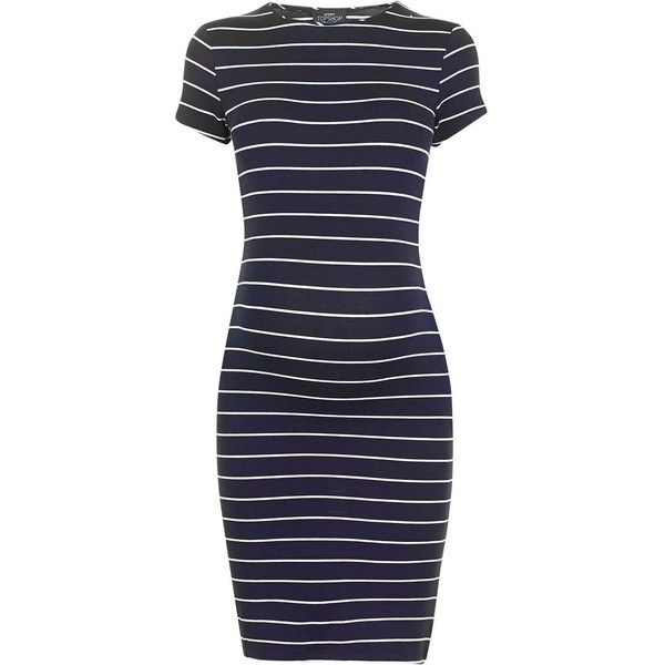 TopShop Maternity Stripe Bodycon Dress ($50) ❤ liked on Polyvore featuring maternity and dresses