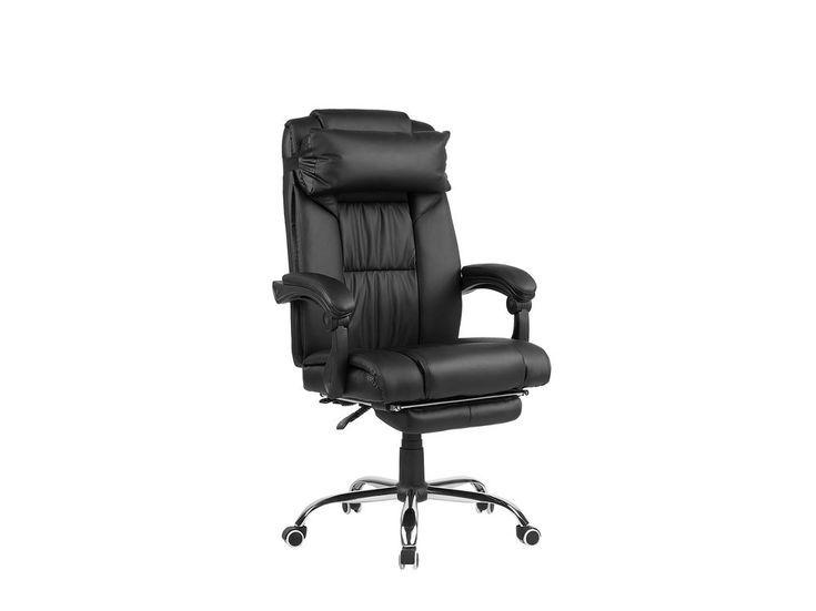 Chaise De Bureau En Cuir Noir Avec Images Chaise Bureau Simili Cuir Noir Simili Cuir