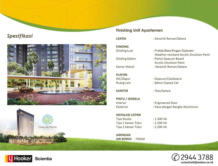 SPECIFICATION - MAGNOLIA TOWER @ Casa de Parco Apartment, BSD City