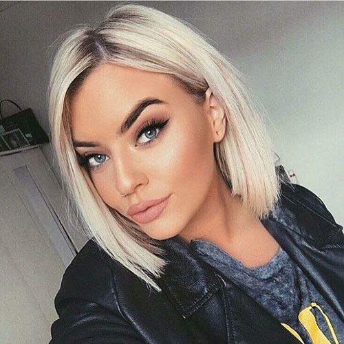 Best 25 pictures of short straight blond hair