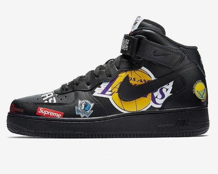 Supreme x nike air force 1 mid   Supreme shoes, New nike