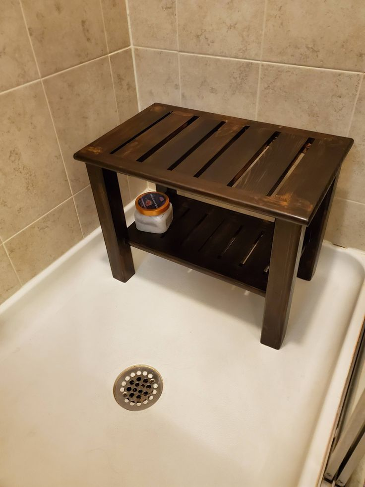 Girlfriend wanted a bench for her shower for shaving her ...