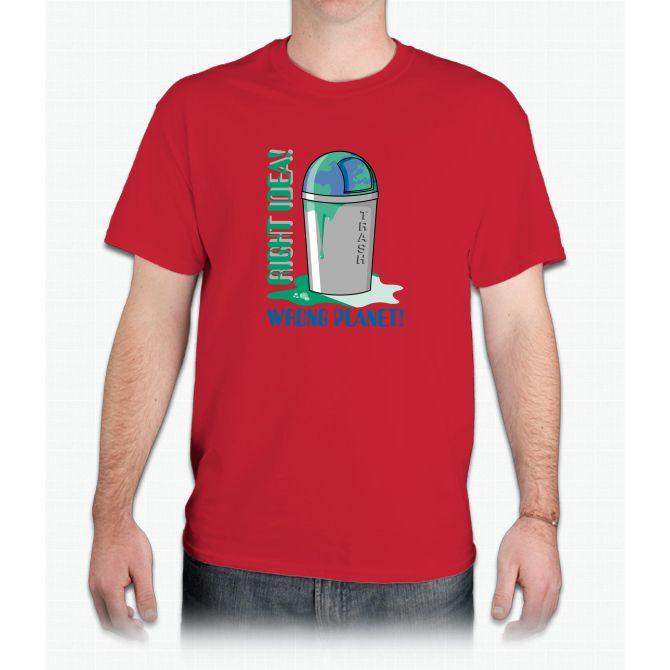 Right Idea, Wrong Planet - Mens T-Shirt