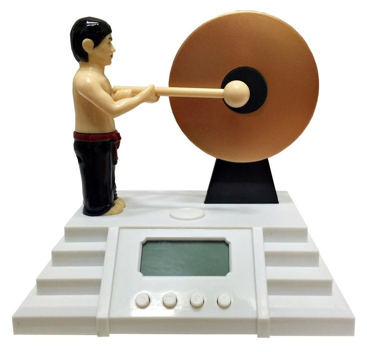 Bruce Lee Asian Knock The Gong Alarm Clocks Light Home Decor Funny Novelty Gifts #Unbranded #AsianOriental