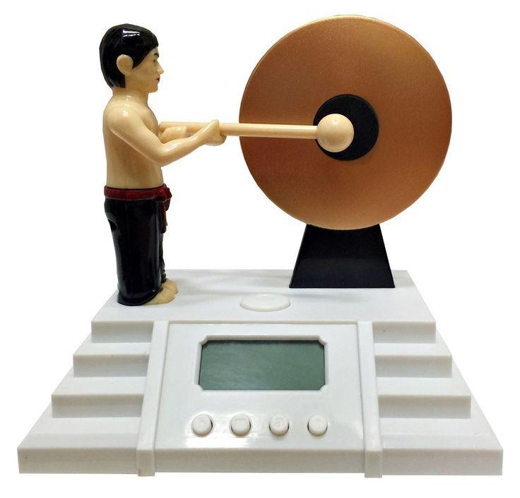Bruce Lee Knock The Gong Alarm Clocks Lighting Creative Gifts Home Decor Novelty