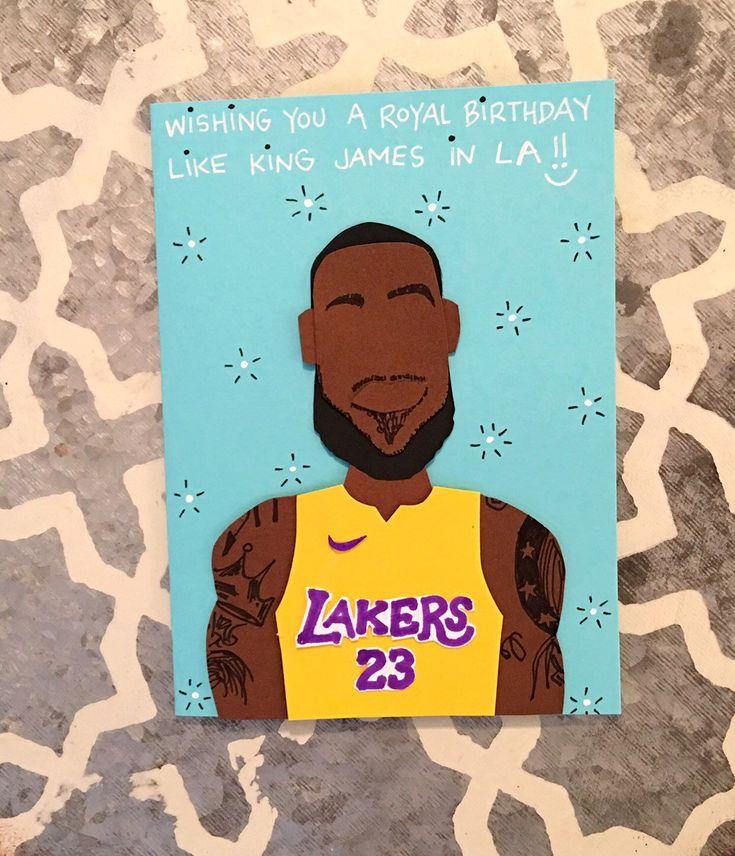 Basketball birthday card lebron james birthday card king