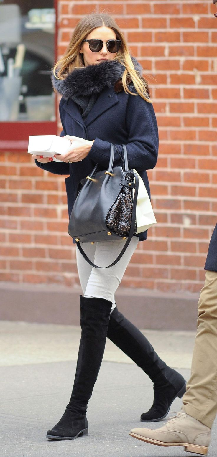 Over-the-knee boots are one of Olivia Palermo's favorite fall trends - come see…
