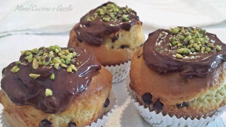 Muffin al cioccolato e granella di pistacchio - Mind Cucina e Gusto