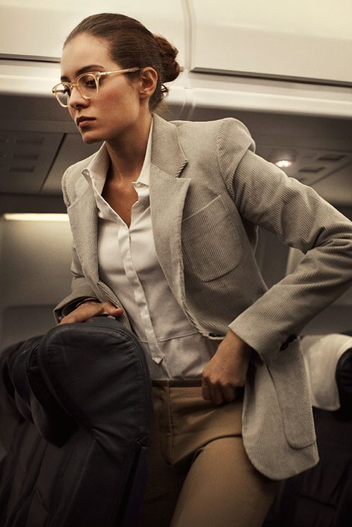 Menswear inspired look, corduroy blazer, tan trouser #minimalist #fashion #style