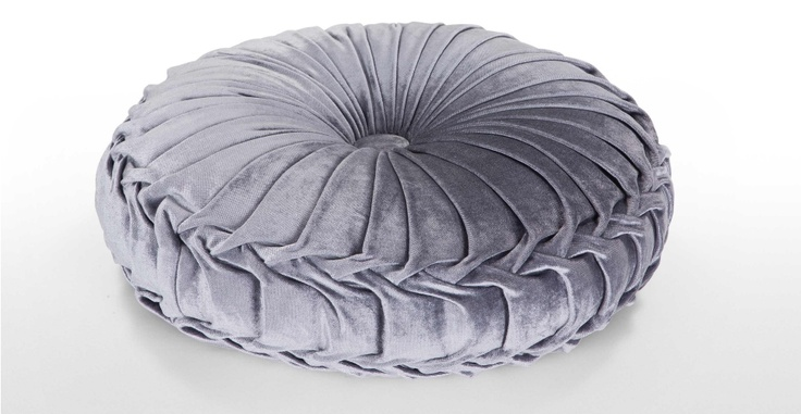 Bay Round Velvet Cushion in cygnet grey   made.com