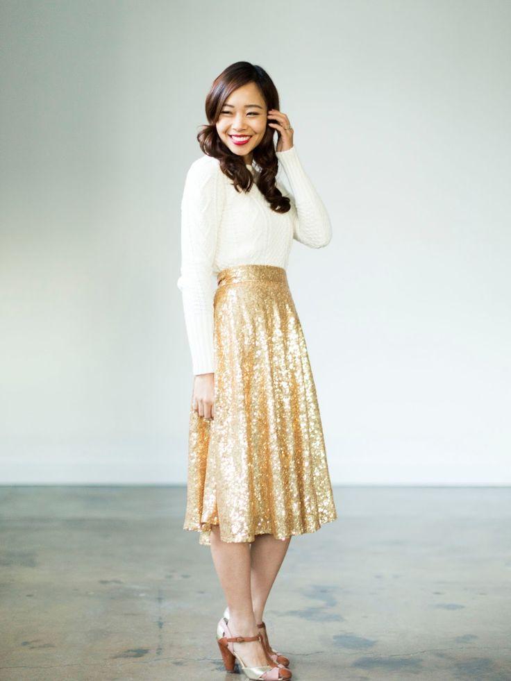 Amazing gold skirt!!