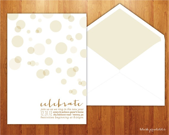 Champagne Bubbles Invite by blushprintables