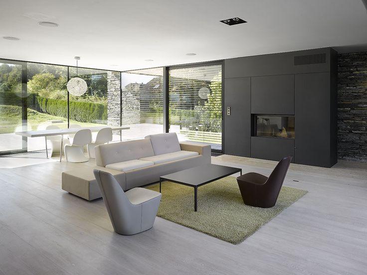 Obývací pokoj vily v Řitce Vila Řitka obývák